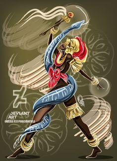 Espada by OradiaNCPorciuncula on DeviantArt Orisha, African Mythology, Yoruba Religion, Warrior Queen, Deviantart, Gods And Goddesses, Fantasy Characters, Love Art, Mother Nature