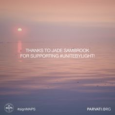 #Gratitude to Jade Sambrook for supporting #unitebylight for the Marine Arctic Peace Sanctuary! #signMAPS parvati.org