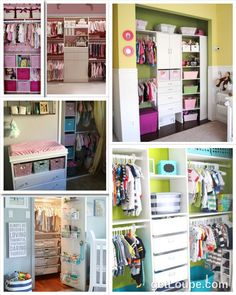 ideas for a small closet in baby's room - love all these nursery closet ideas to completely organize the nursery.