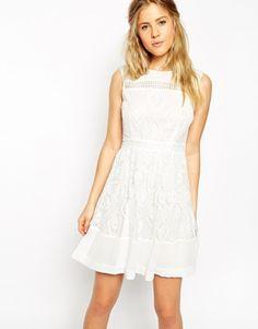 mini dress in lace / asos