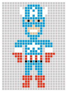 Superhero Pixel Art Templates - Marvel's The Avengers Post-its Lets Users Make Art with Sticky Notes (GALLERY)