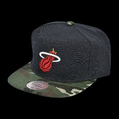 MITCHELL & NESS CAMO STRAPBACK now available at Foot Locker