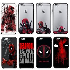 Hot Selling Marvel Deadpool Silicone Case For iPhone 5 5S 6 6S 6Plus SE Cover Case
