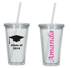 Personalized Tumbler 16 oz. A Perfect Graduation by CaryMeHome, $8.00