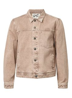LTD Washed Stone Denim Trucker Jacket - Topman LTD - Clothing - TOPMAN