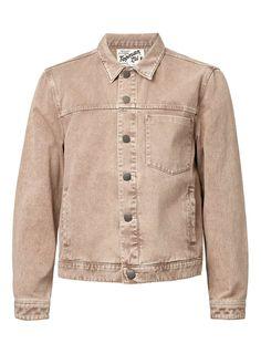 LTD Washed Stone Denim Trucker Jacket - Topman LTD - Clothing - TOPMAN