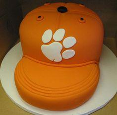 Clemson Baseball Hat Tiger Paw Cake. www.VintageBakery.com (803) 386-8806