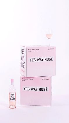 It's called Yes Way Rosé, and your pink wine-loving heart is about to explode. Packaging Design, Branding Design, Corporate Branding, Yes Way Rose, Rose Quotes, Cute Rose, Wine Cork Crafts, Wine Brands, Packaging