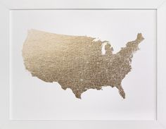 United States Map Filled by GeekInk Design at minted.com