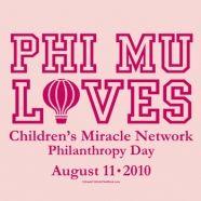 Phi Mu Philanthropy. Children's Miracle Network Day