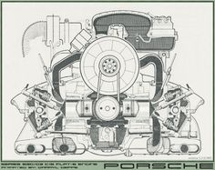 Awesome GIF showing the Porsche's Boxer Engine (no, not Subaru's, Porsche had it first)
