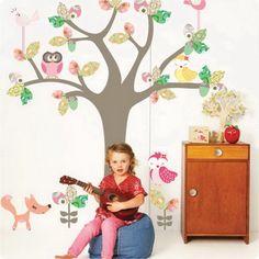 Kids Bedroom Ideas With Tree Wall Stickers - http://backgroundwallpaperpics.com/kids-bedroom-ideas-with-tree-wall-stickers/