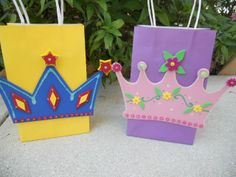 Princess or Prince Crown Favor Party Bags by christinescritters