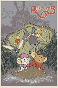 The Rescuers Mondo print by David Peterson