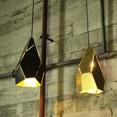 TOPAZ light by Edward Linacre - 'Topaz' pendant lamps pay homage to the exquisite geometric chaos that are Nature's mineral crystallisations. http://www.workshopped.com.au