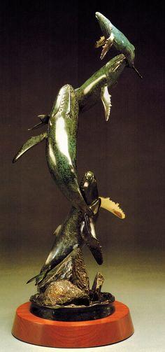 Randy Puckett Bronze Sculpture - Family  --  on ScrimshawGallery.com