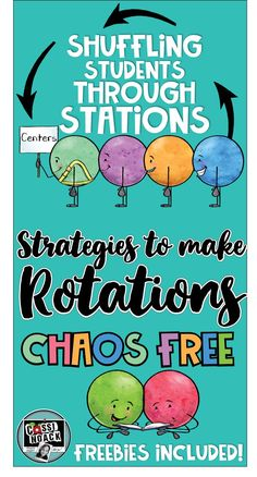 Math or Readers Workshop time can quickly become a hot mess in your classroom if you dont have routines and procedures i Center Rotation Charts, Center Rotations, Math Rotations, Math Centers, Multiplication Strategies, Math Math, Math Fractions, Math Workshop, Readers Workshop