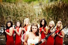 Have to do this picture at my wedding!! Just make sure the guns aren't loaded around my friends ;)