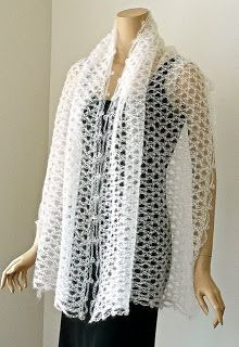 DesigningVashti: The Weightless Tunisian Crochet Stole
