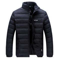 Man Lightweight Windproof Waterproof Slim Fit Duck Down Jackets Stand Collar…