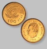 100 Pesetas de la Antigua Moneda Española - Money Made in Spain