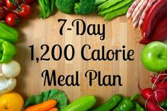 7 day 1,200 calorie meal plan