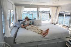 Chris and Kristen's Dreamy Houseboat  -  Connect with us at www.Facebook.com/TinyHousesAustralia