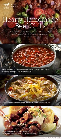 Cook up a hot pot of chili. Find a recipe made for almost any cut of beef you have on hand at BeefItsWhatsForDinner.com.-Tap The Link Now! To Purchase These Products :)