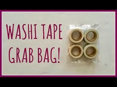 WASHI TAPE GRAB BAG OPENING | Oh, Hello Stationery Co. Haul - YouTube