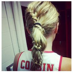 braided around ponytail