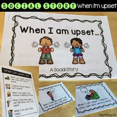 Social Story When I'm Upset  Find it here:  https://www.teacherspayteachers.com/Product/Social-Story-When-Im-upset-how-to-stay-calm-2430105
