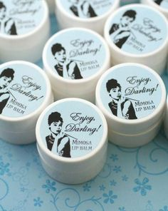 lip balm shower favor by The Favor Stylist | http://emmalinebride.com/favors/lip-balm-shower-favor/