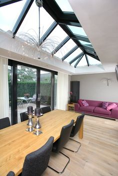 shared by www. Conservatory Design, Glass Extension, Roof Light, House Extensions, Pergola, Outdoor Rooms, Architecture, Lofts, Home Projects