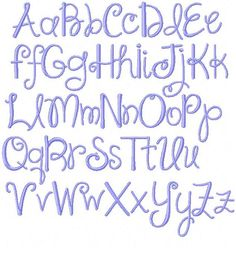 Modern Handwriting Script Machine Embroidery FIle Monogram Pattern Font Instant Download Summer