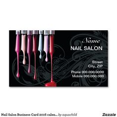 63 best customized nail salon business cards images on pinterest in shop customizable salon business cards and choose your favorite template from thousands of available designs cheaphphosting Image collections