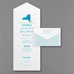 State of Romance - Seal 'n Send Invitation. Proud of the state of your relationship and your home state? Honor both with your choice of state design printed in your choice of color on this seal 'n send wedding invitation.