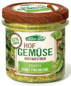 Allos Brotaufstrich Hofgemüse Spinat Pinienkerne neu bei Maran Vegan in Wien