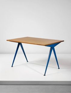 JEAN PROUVÉ 'Cafétéria' table, model no. 512, from the Centre d'études atomiques, Marcoule, France 1955