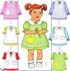 Butterick 4379 Sewing Pattern Toddler Girls by paneenjerez on Etsy, $8.00