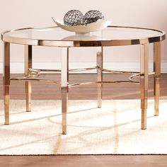 Found it at Wayfair - Metallic Gold Coffee Table