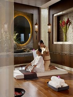 The Harmony Spa - Thai Yoga Massage Room. Also available for Couples Massage (Concept rendering) #AriaHotelBudapest #Budapest #BookLHC #BoutiqueHotels #CouplesMassage