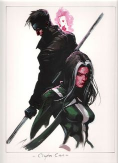 Gambit and Rogue by Clayton Crain *