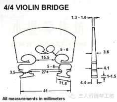 Bridge curve templates for various stringed instruments