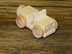 Mini Wood Toy Truck Jeep Wooden Toys WW2 Handmade Kids Boys Childs Birthday Gift…