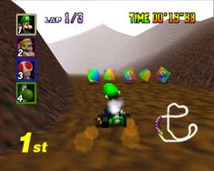Mario Kart 64 (N64) Mario Kart 64, Nintendo 64 Games, Growing Up, Race Games