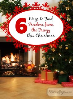 6 Ways to Find Freedom from the Frenzy This Christmas! Free printable! Bring peace to this season.