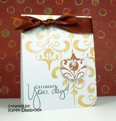 Celebrate your day w/3-d flourish