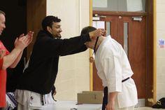 Dan Browning Most spirited grading march 2017 Biggleswade Karate dojo