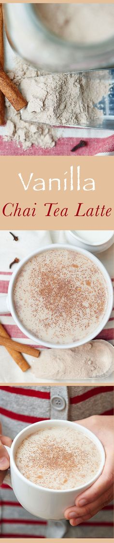 This vanilla chai tea latte is creamy, sweet, a little spicy, filled with vanilla, and perfect for the coldest day of winter!