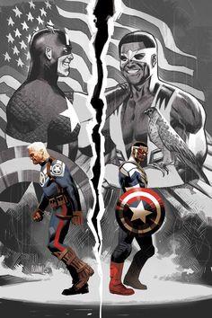 Captain America: Sam Wilson by Nick Spencer and Daniel Acuna (Marvel Comics) Marvel Captain America, Ms Marvel, Marvel Comics Art, Marvel Comic Books, Marvel Heroes, Marvel Characters, Comic Books Art, Comic Art, Book Characters
